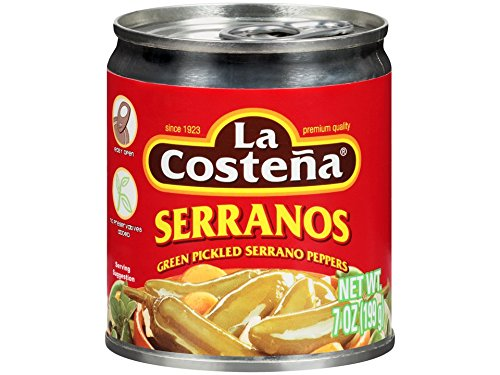 La Costena Serrano Pepper, 7 Ounce (Pack of 24)
