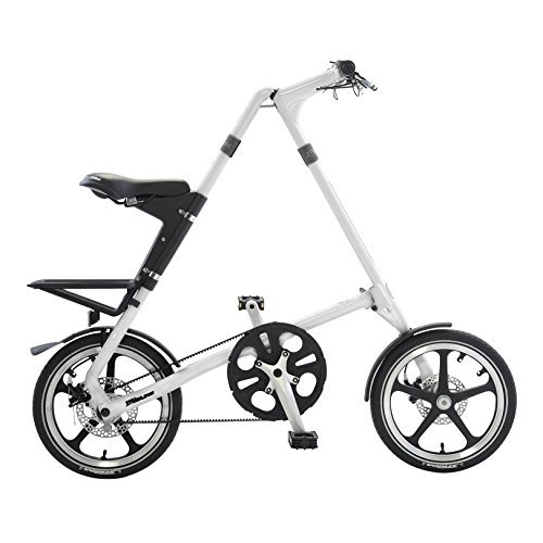 Strida LT Folding Bicycle, Folds to 45x20x9, White