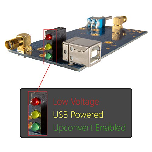 Ham It Up v1.3 Barebones - Nooelec RF Upconverter For Software Defined Radio. Works With Most SDRs Like HackRF & RTL-SDR (RTL2832U with E4000, FC0013 or R820T Tuners); MF/HF Converter With SMA Jacks