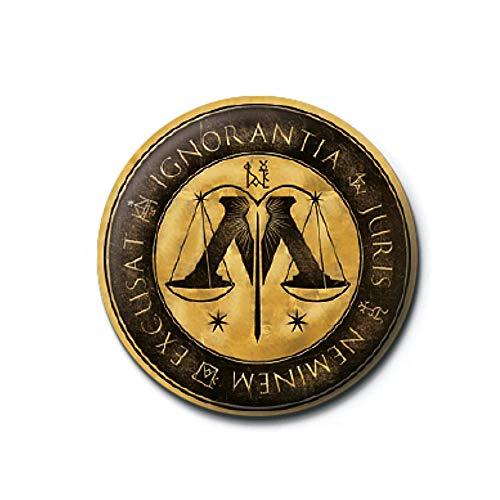 Pritties Accessories Echte Warner Bros Harry Potter-Ministerium für Magie Logo Taste Abzeichen Stift Hogwarts