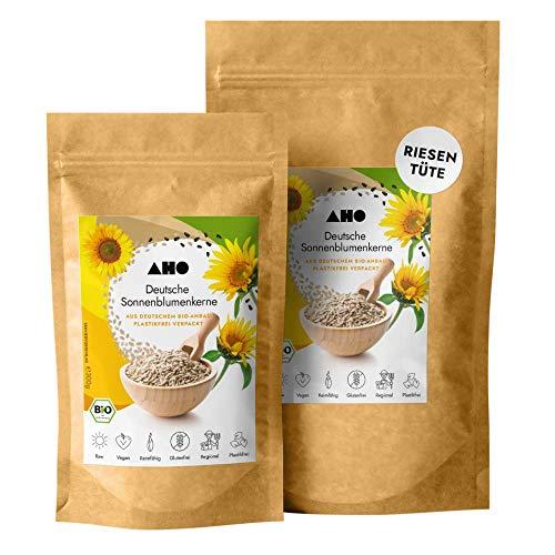 AHO Deutsche Sonnenblumenkerne 850g | Lokales Superfood aus Deutschland | Bio, Vegan, Plastikfrei, Regional (850g)