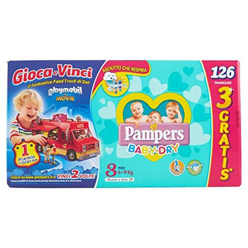 Pampers Baby Dry Midi-Windeln, Größe 3, 126 Stück