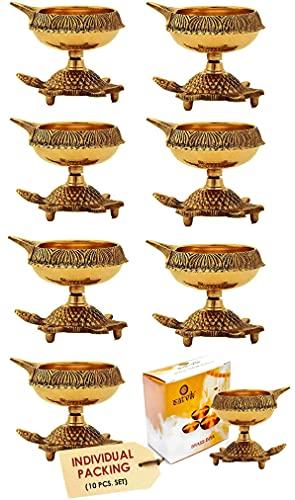 10pcs 100% Pure Traditional Brass Diya