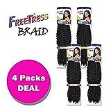 Freetress Synthetic Crochet Hair - BRAZILIAN BRAID 20' (4-Pack, 1)