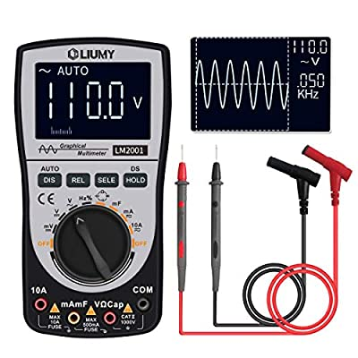 Oscilloscope Multimeter 2.0 Update,LIUMY Professional LED Handheld Oscilloscope Multimeter with 200ksps A/D Automatic Waveform Capture Function,DC/AC Voltage/Current Test,HD Display with Backlight