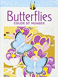 butterflies color by number