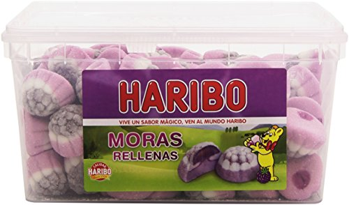 Haribo Moras Rellenas Caramelos de Goma - 1180 gr (125 caramelos)