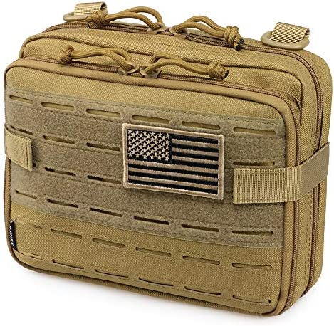 WYNEX Tactical Molle Admin Pouch of Laser Cut Design Utility Pouches Molle Attachment Military product image