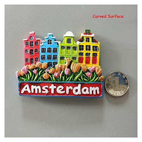 FIRMLEILEI Imanes de Nevera decoración de Souvenir decoración del hogar Imán de refrigerador (Color : Amsterdam)