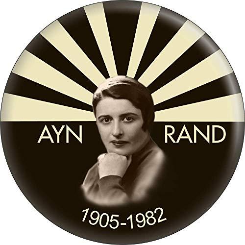 "Ayn Rand - Faceshot 1905-1982 - 2.25"" Round Magnet"