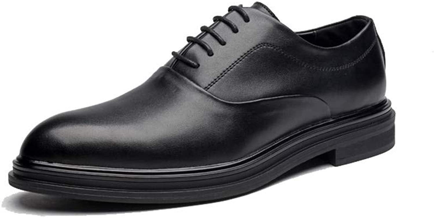 XHD- Classic shoes 2018 New Men's Business Oxford Casual Fashion British Style Comfortable Pointed Low Top Formal shoes(Patent Leather Optional) (color   Black, Size   9.5 M US)