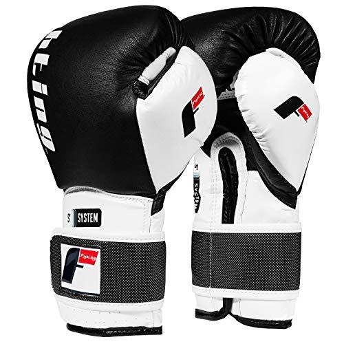 Fighting Sports S2 Gel Power Training Gloves, Black/White, 16 oz