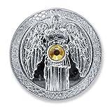 dsnetz Ángel Digital Plata Digital con Swarovski Cristal Diámetro 27mm Arcángel | Talisman Ángel de la Suerte Moneda de la Suerte | Esoterik Regalos Günstig Online Comprar