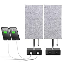 ※USEFUL USB PORTS► The base of this decorative table lamp contains dual easy access 5V/2A USB ports so that you can charge 2 DEVICES AT ONCE, such as mobile phones, tablets, kindle readers, iPad, iPhone and so on. The USB port functions regardless of...
