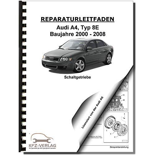 Audi A4 Typ 8E 2000-2008 6 Gang Schaltgetriebe Kupplung 0A3 Reparaturanleitung