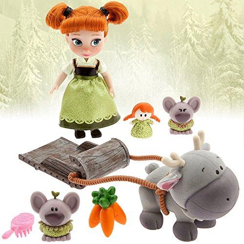 Disney Animators' Collection Frozen Anna Mini Doll Play Set - 5 Inches