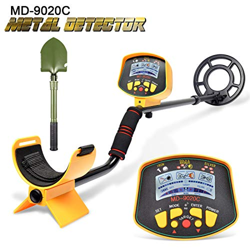 VVinRC Professional Metal Detector with Pinpointer Function, High Sensitivity Metal Detector for Adults & Kids Waterproof Search Coil Underground Treasure Hunter LCD Display Detectors Metal
