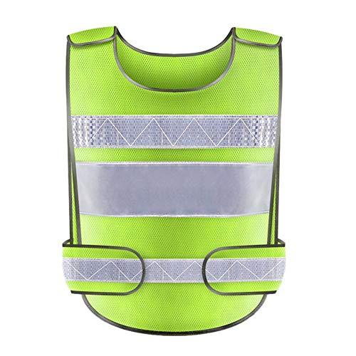 iBàste Gilet De Travail Haute Visibilité Jaune Haute Visibilité pour Le Travail Tops Réfléchissants Avertissement De Circulation Protection des Vêtements Fluorescents Taille Unique (réglable)