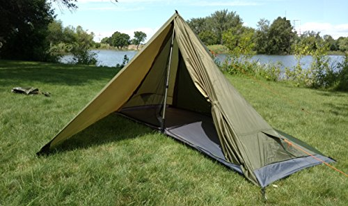 River Country Products One Person Trekking Pole Tent, Ultralight Backpacking Tent - Green