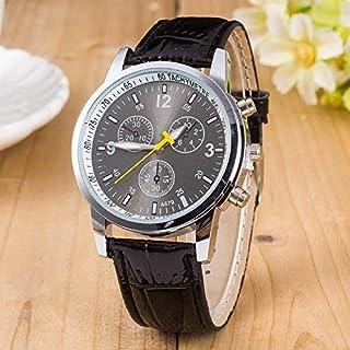 wall clock, Fashion Wrist Watch Six-Pin Quartz Casual Watch Watch,Colour Name:Black Geneva (Color : Black Geneva)