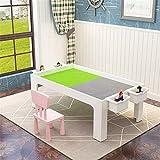 Los niños juegan y aprenden mesa Mesa de madera para niños Mesa de juguete Mesa de juego Mesa multifuncional Mesa de juego Cultivar la capacidad de coordinación (Color: Blanco, Tamaño: 107 x 57 x 45cm