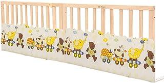 Barrera de Cama, Riel de Cama para bebé de Madera con Almohadilla de barandilla, Cerca de Cama de Seguridad para barandas portátiles para niños pequeños - Natural (Tamaño : 190cm)