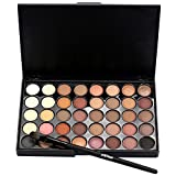 Eyeshadow Palette,Putars Cosmetic Matte Eyeshadow Cream Makeup Palette Shimmer Set 40 Colors+ Brush Set (A)