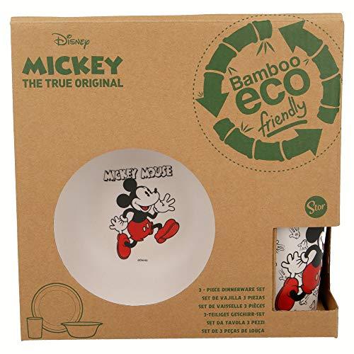 Set DE Bambu 3 PCS (Plato, Cuenco Y Vaso 270 ML) | Mickey Mouse - Disney - 90