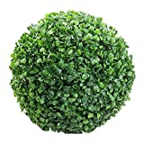 Baost 1 Pc Artificial Plant Ball Faux Boxwood Leaves Fake Topiary Tree Decorative Greenery Globe for Home Wedding Party Decoration 30 cm