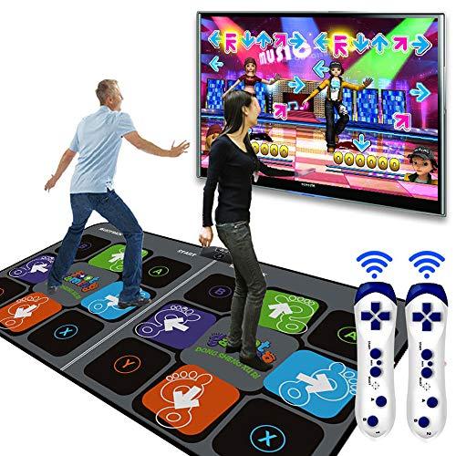 SKLLA Alfombra de Baile, Danza cámara Soporte Doble Mat Pad para Ordenador TV USB Paso Juego Alfombra Dual Usuario Alta Definición 11mm Baile Mat Yoga máquina con Dos manijas