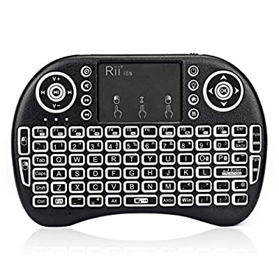 Rii i8s Plus KODI XBMC 2.4Ghz RF Mini Wireless Keyboard With LED Backlit Touchpad Mouse Rechargeable Multi-Media Portable Handheld Android Keyboard