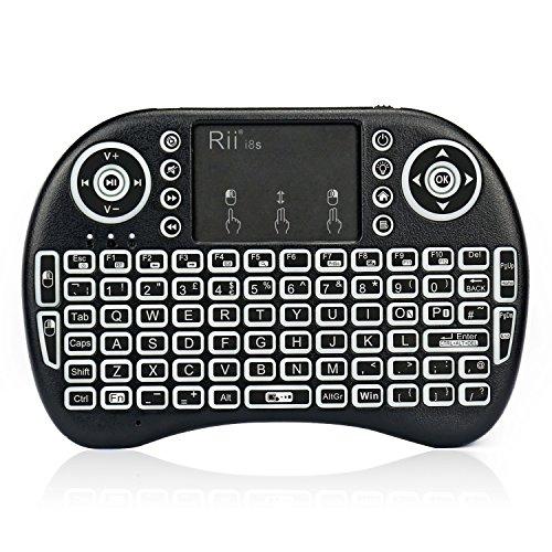 Rii i8S+ Mini Keyboard 2.4GHz Wireless Keyboard with touchpad Backlit,...