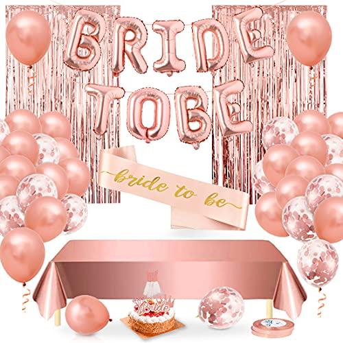 Bride to Be Décorations, Hen Party Decoración, Bride to Be Globos Banner Para Fiestas, 31 Pcs Oro Rosa Globos, Bride To Be Globo De Letras Bodas Bandera, Para Despedida De Soltera Con Decoration