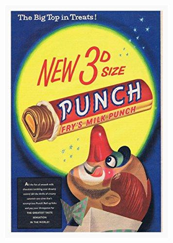 Punchbar2 Poster Chocolade Bar Foto Vintage Oude Advert Artwork Klassiek Ouderwetse Commerciële
