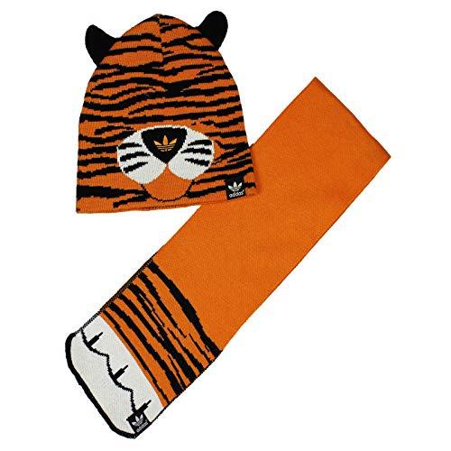 adidas Originals Winter Set Baby Kinder Mütze Schal Tiger G84899 2teilig Orange,...