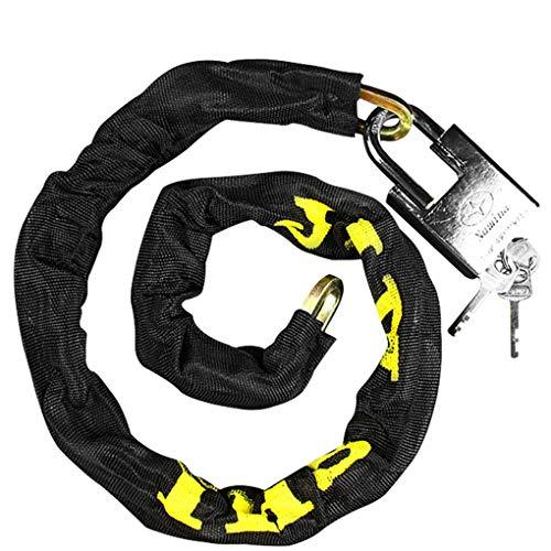 XIMIXI Bike Lock Hardened Steel Chain Lock for Bike with 2 Keys (E-100cm)