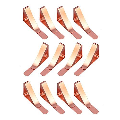 Zij-Lin RVS Tafelkleed Klem, Rose Goud Tafel Cover Klemmen Sterke Tafeldoek Clip Klem voor Thuis Feest en Picknick, Pack van 12.