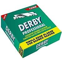 Derby E2 - Pack de 100 cuchillas para hoja de barbero