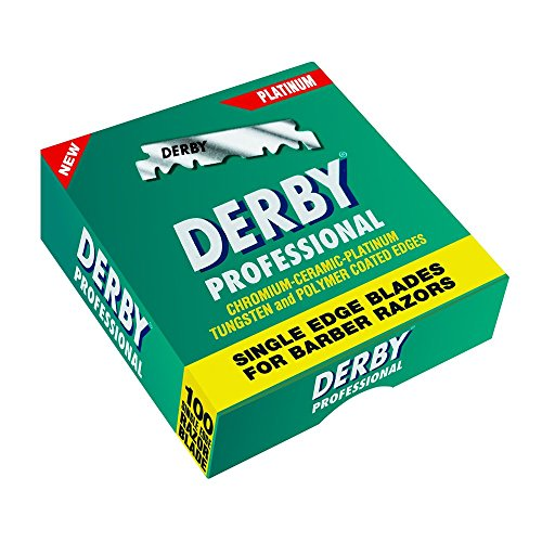 Derby E2 - Pack 100 cuchillas hoja barbero