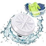 Mini Washing Machine Ultrasonic Turbine Washing Machine Portable Turbo Washer for Travel Business Trip or College Rooms