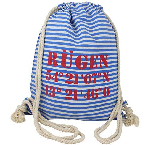 Sonia Originelli City Rucksack Rügen Tasche Bag Backpack Maritim Farbe Blau-Rot