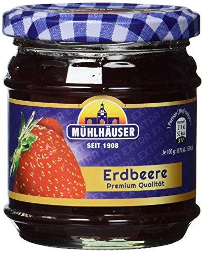 Mühlhäuser Erdbeer Konfitüre Extra, 5er Pack (5 x 225 g)