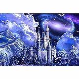 guijiumai 5d Diamante Pintura Bricolaje Set de Pintura de Diamante para Adultos Mountain Castle40x50cm Sin Marco