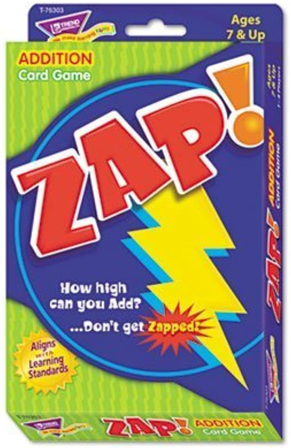 Trend   Zap Math autod gioco, Ages 7 e Up - - Sold as 2 Packs of - 1 -   - Total of 2 Each by Trend