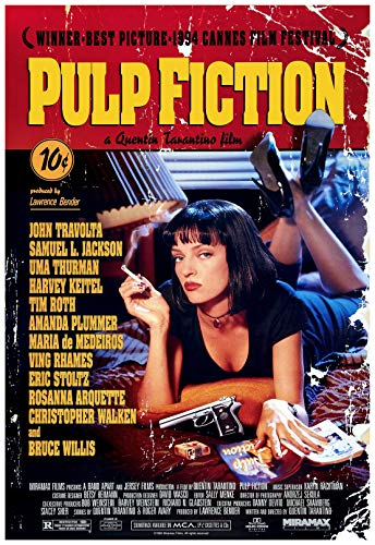 Pulp Fiction Movie Poster 24 x 36 Inches Full Sized Print Unframed Ready for Display