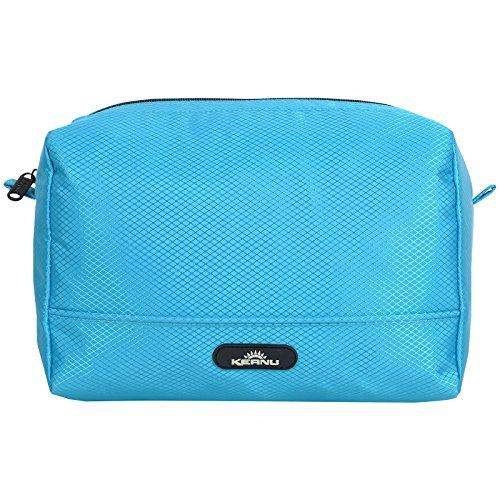 Durchdachte Kosmetik Tasche wasserabweisend KEANU :: 4 Einschubfächer Innen, RV Fach Innen, viel Stauraum :: Shower Bag Kulturtasche Washbag (Türkis)