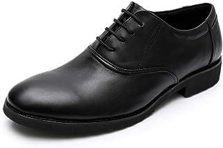 Oxford DE Negocios para Hombre LOS Zapatos Formales DE Trabajo CORDADOR CARAJE DE Cuero Genuino Retro Redondo Toe Anti res...
