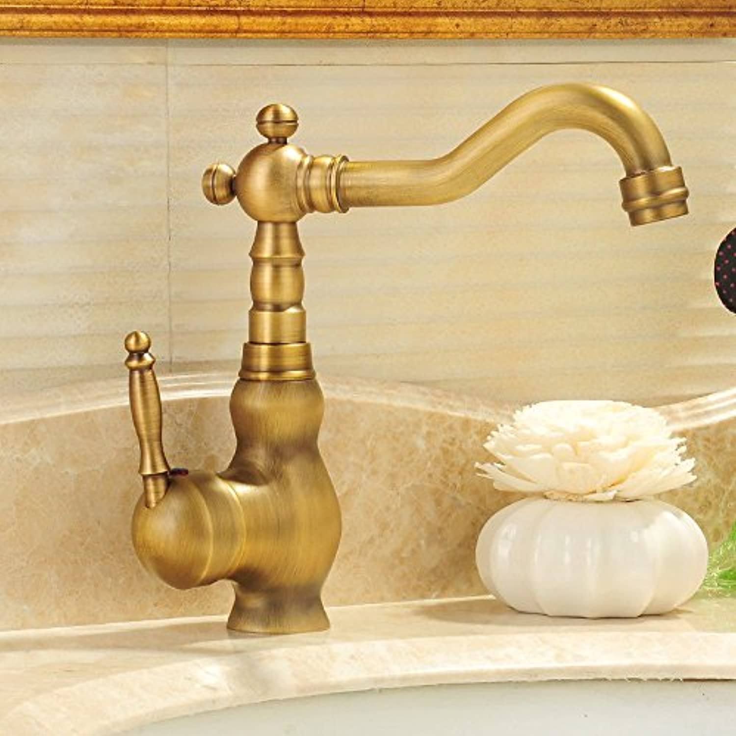 SHLONG Tap Antique Faucet Hot and Cold Water Faucet Basin Faucet Copper Copper Faucet