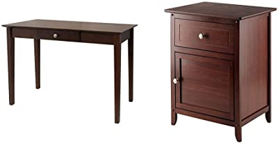 Winsome Wood Rochester Occasional Table, Antique Walnut & Wood Eugene Accent Table, Walnut