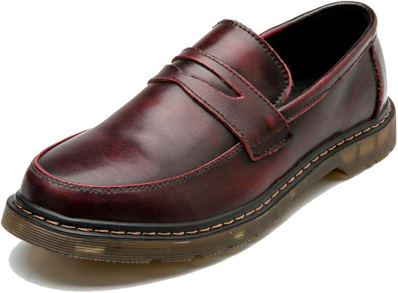 2018 2018 2018 Mens schuhe, Herrenmode Oxford Schuhe, Casual Bequeme Cover Feet Runde Zehe One Foot Pedal Workwear Schuhe (Farbe   Rot, Größe   47 EU)  11c332